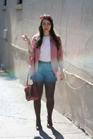 Urban Outfitters blazer - NY&amp;CO shorts - vintage blouse