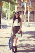 monteau blouse - H&M bag - Urban Outfitters skirt