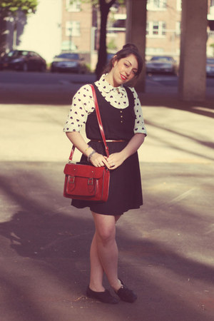 Forever 21 dress - vjstyle blouse - Jeffrey Campbell flats