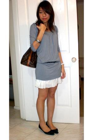 skirt - shoes - LV purse