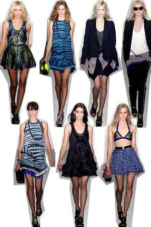 black PROENZA SCHOULER blazer - blue PROENZA SCHOULER dress - black PROENZA SCHO
