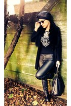 black H&M cardigan - black H&M pants