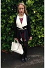 Black-ankle-boots-primark-boots-white-mango-bag