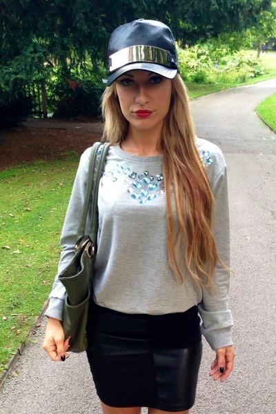 silver asos blouse