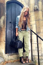 olive green River Island pants