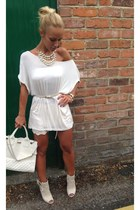 beige new look dress - beige new look top