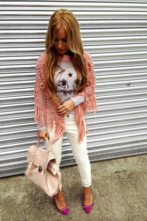light pink asos bag