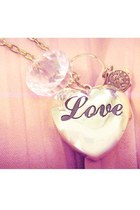 gold locket charms necklace