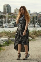 black Topshop dress - gray H&M skirt