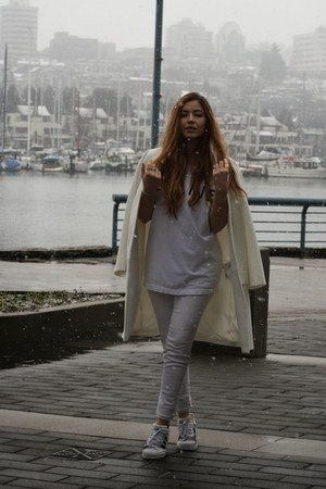 Zara coat - American Eagle jeans - Sincerely Jules t-shirt - Adidas sneakers