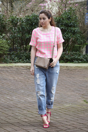 Joa top - Zara jeans - shoemint heels
