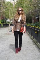 Zara blazer - BDG jeans - Brianne Faye bag