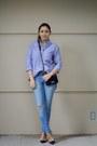 Violet-jcrew-shirt-navy-chanel-bag-navy-valentino-heels