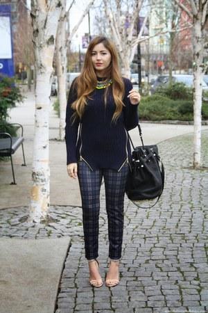 Zara sweater - Alexander Wang bag - Zara pants - Zara necklace - Schutz heels