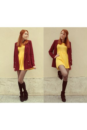 Sheinside dress - Dahlia blazer - ASH sneakers