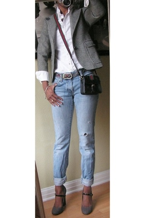 alexanders blazer - abercrombie and fitch shirt - Gap jeans - Gucci purse - shoe