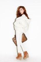 bronze Nanda boots - white Stylenanda jacket