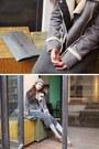 Silver-hat-heather-gray-skirt