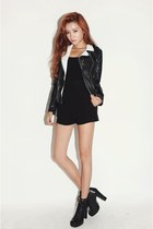 black boots - black leather Stylenanda jacket