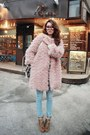 Bronze-boots-light-pink-coat-sky-blue-jeans-ivory-shirt-black-glasses