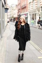 black faux fur Stylenanda coat