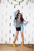 sky blue Style Nanda shirt