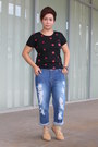Brown-hush-puppies-boots-red-kcc-department-store-jeans