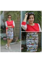 from bangkok blouse - thrifted shoes - from bangkok shirt