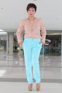 Brown-kcc-department-store-blouse-light-blue-kcc-department-store-pants