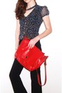 Three-strap-ditto-heels-red-leather-vintage-bag-gap-pants