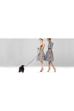 heather gray Carolina Herrera dress - dress - red Carolina Herrera heels - heels