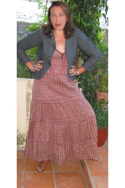 denim jacket with dress. cotton Zara dress - denim