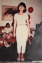 white vintage flats - white vintage t-shirt - white vintage pants