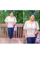 Forever21 shoes - Walmart jeans - oldnavy bag - JCpenney top - H&M accessories