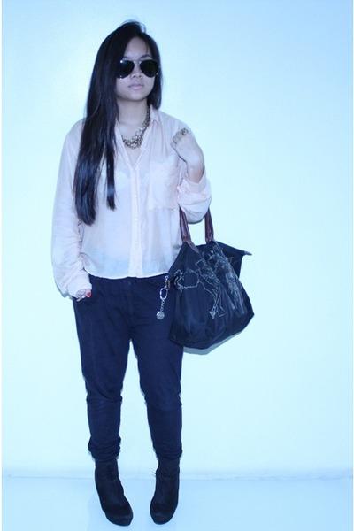 Topshop blouse - Zara pants