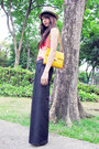 Zara-hat-random-from-hong-kong-top-wide-legged-random-from-bangkok-pants-a