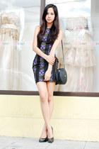 black Gucci bag - camille co dress - black studded Dolce Vita heels