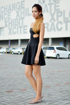 black cut out Topshop dress