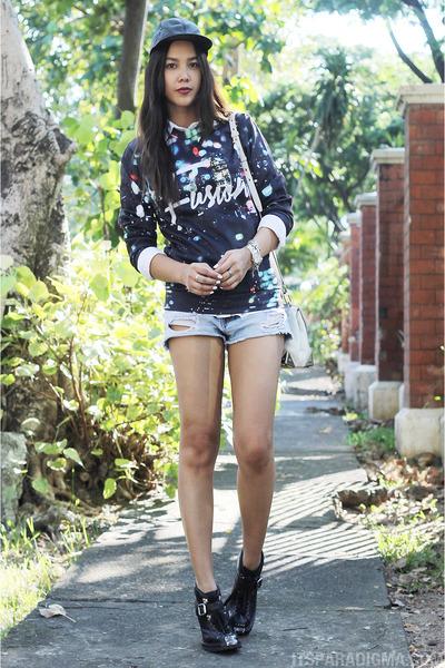 Fusion sweater - black Miu Miu boots - white Alexander Wang bag