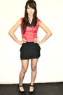 Black-cotton-on-red-vest-black-miley-cyrus-x-max-azria-skirt-black-charlot