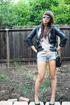 black Carbon blazer - beige Topshop - abercrombie and fitch shorts - black - bla