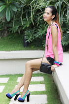 hot pink chiffon H&M top