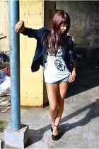 black blazer - white Randomly bought along the Amalfi Coast - Urban Outfitters s