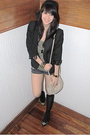 Black-black-blazer-green-topshop-black-zara-shorts-black-michael-kors-