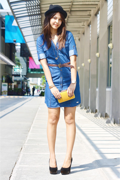 blue G by Guess dress - black Topshop heels