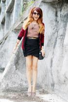 Topshop loafers - black lanvin bag - black H&M sunglasses