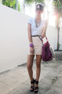 White-sexy-white-shirt-t-shirt-magenta-marc-by-marc-jacobs-bag