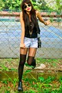Black-gold-studded-forever-21-boots