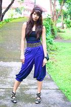 purple vintage pants - black chain headband Forever 21