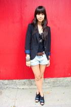 black Zara blazer - black leather Dolce Vita clogs